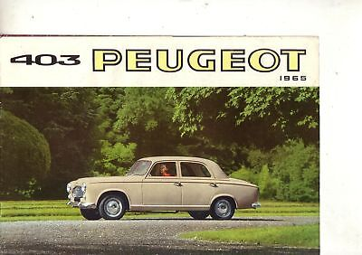 Catalogue  PEUGEOT   403   1965   prospectus  brochure prospekt car