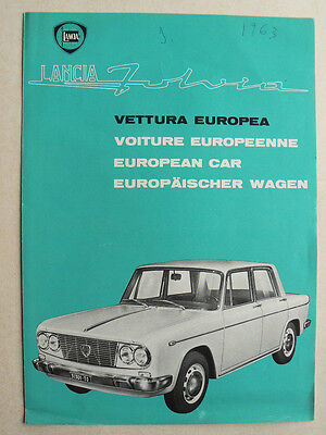 Catalogue  LANCIA  FULVIA          1963