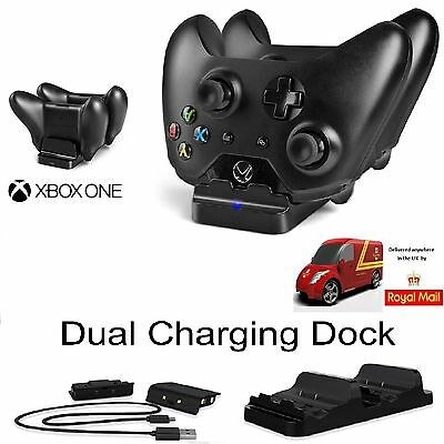 Dual Xbox Controller USB Charger Docking Station Charging Stand With 2 Batteries
