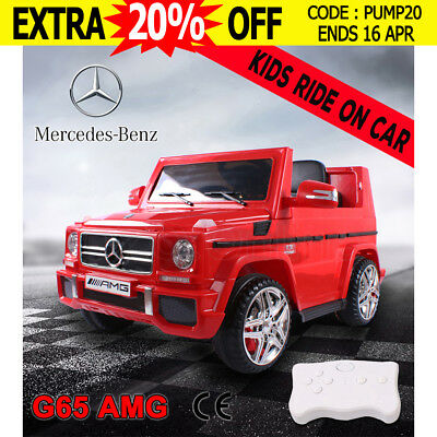 Electric Kids Ride on Car Licensed Mercedes Benz AMG G65 Children Toy Remote Red