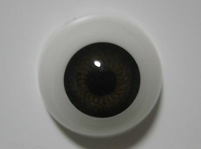 Reborn doll eyes 22mm Half Round  MEDIUM BROWN