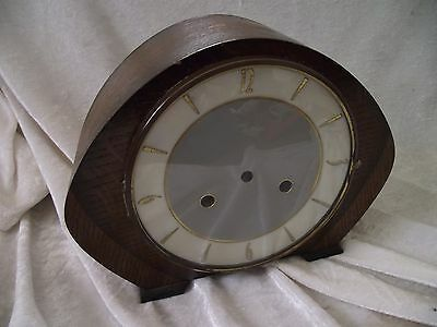Vintage wood empty mantle clock case - parts spares. LOT 2