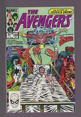 Avengers # 240  The Mystery of Jessica Drew !  grade 9.2 scarce book !