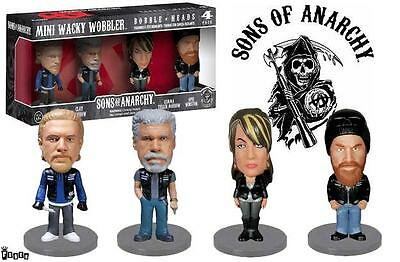 FUNKO Wobbler Bobble Heads Sons of ANARCHY 4 Mini Figures Pop Culture SHIPS FAST