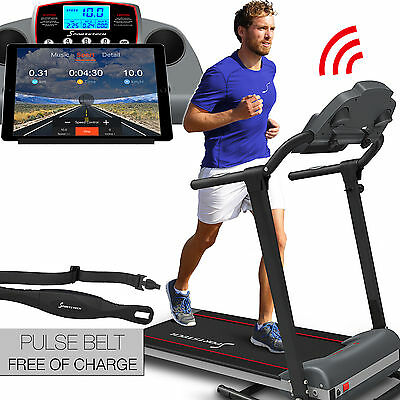 Sportstech F10 treadmill with fitness app control 1 HP DC 10 KM/H foldable