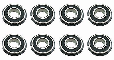 Eight (8) Go Kart / Lawnmower Bearings w/Snap Ring 99502H NR 5/8 x 1-3/8 x .433