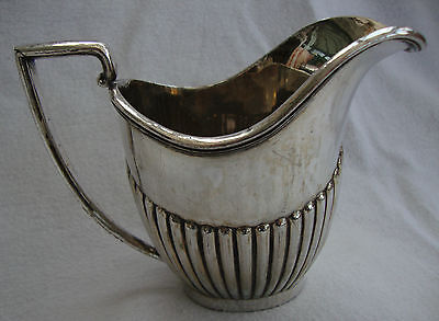 Antique Silver Plated Epbm Small Milk Jug Creamer J.t&co.sheffield No:050
