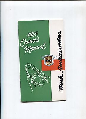 NASH ambassador  owner's manual 1956 / notice d'entretien d'epoque