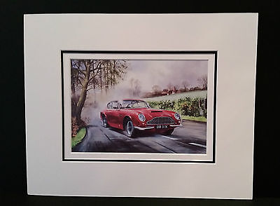 Aston Martin DB6 by Bob Murray Open Edition Print Mounted