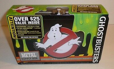 Ghostbusters Logo Metal Back to School Supply Pencil Pen Box Case Ghost Busters
