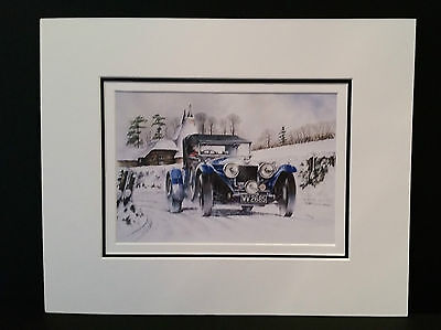 Cold Start 4.5 Litre Invicta Tourer by Bob Murray Open Edition Print Mounted