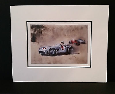 Mercedes Benz W196 by Bob Murray Open Edition Print Mounted