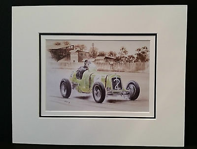 ERA Nuffield Trophy at Donnington 1934 by Bob Murray Open Edition Print Mounted