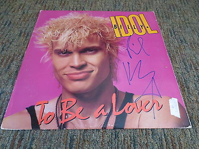 BILLY IDOL Signed TO BE A LOVER 1986 LP