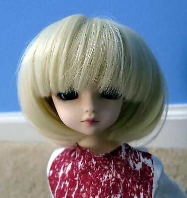 9 Doll Wig Short Ringlets Silver Gray BJD Ball Jointed Size 7 10 NEW 8