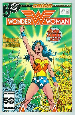 Wonder Woman #329 (DC comics 1986) Last issue!!  FN Crisis issue