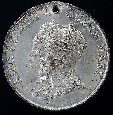 1911 UK Great Britain King George V & Queen Mary Coronation Medal WM