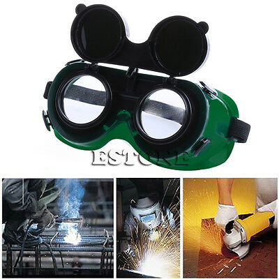 Welding Goggles With Flip Up Darken Cutting Grinding Safety Glasses Green New
