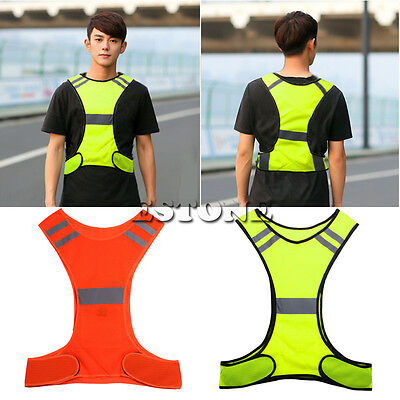 High Visibility Reflective Jogging Bike Cycling Walking Running Safety Vest