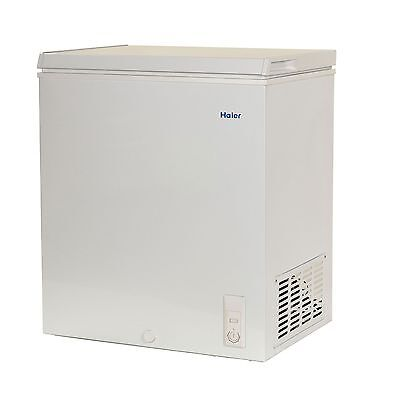Haier 5.0 CU FT Chest Freezer Removable Basket RoHs Compliant Easy to use