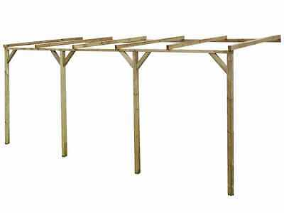 Wooden Pergola Garden Structure Outdoor Patio Car Port Sturdy Rot Resistant