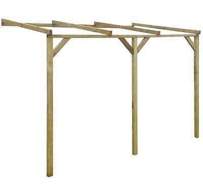 Garden Pergola Wooden Structure Outdoor Patio Porch Decor Sturdy Rot Resistant