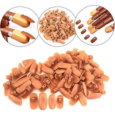 100 Pcs Replacement Refill Nails Tips for Flexible Nail Training Practice Hand