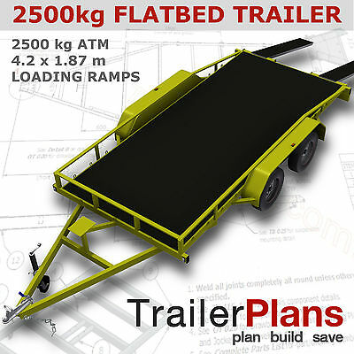 Trailer Plans    -    2500kg FLATBED CAR TRAILER PLANS    -    PRINTED HARDCOPY