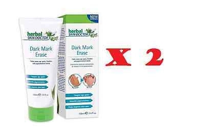 2 x Herbal Skin Doctor Dark Mark Erase Ageing Age Spots Removal Cream 100ml