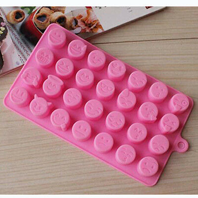 Cake Candy Chocolates Pastry Molds 28-Emoji Expression Design Baking Silicone