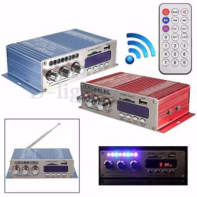 200W Bluetooth Power Amplifier HiFi Stereo AMP For Car Motorcycle MP3 FM Audio