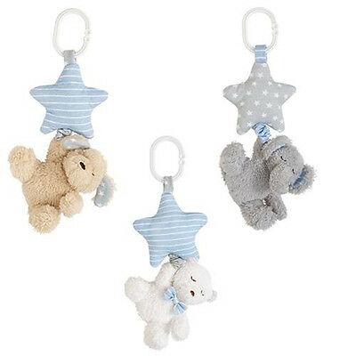 Mud Pie MK6 Twinkle Baby Boy Stroller Buddies Toy Bear Puppy Elephant 2112241
