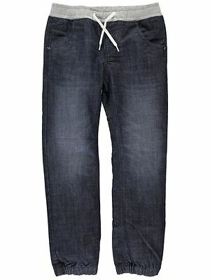 NAME IT Unisex Baggy Jeans Hose Dark in blau mit Rippenbund Größe 92 bis 164