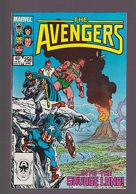 Avengers # 256  ...Into the Savage Land !  grade 8.0 scarce book !