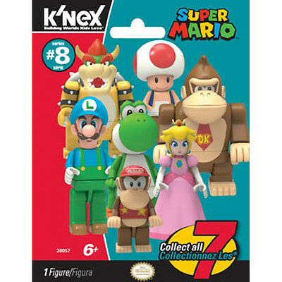 K'Nex Super Mario Collectable Figure Mystery Bag (Series 8) NEW