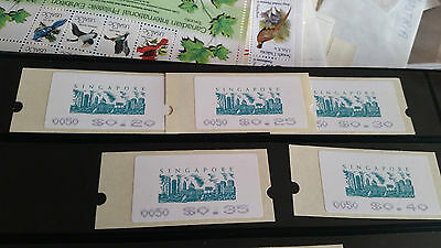 Singapore 1994 Skyline  Self-Adhesive Labels $0.20 To $0.40
