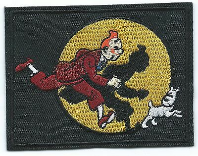 Tintin & Snowy Embroidered Patch Iron-on Art Good Luck Charm Magic