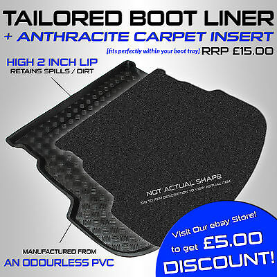 BMW 3 series (F30) Saloon 2012+ Tailored PVC Boot Liner / Mat [A]