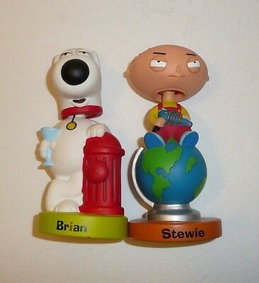 Brian and Stewie - Lot of 2 Bobblehead Figures Funko 2005 FAMILY GUY Cartoon