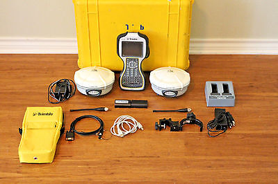 Trimble Dual R8 Model 2 GPS GNSS Glonass Base Rover RTK System w/ TSC3 Access