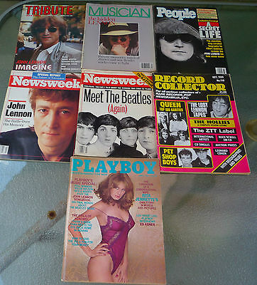 John Lennon Magazine Lot of 7 (Playboy, Tribute, Musician, People,...)
