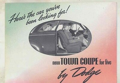 1939 Dodge Hayes Town Coupe for Five Brochure Revised 2/39 ww1324