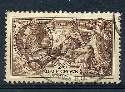 Weeda Great Britain 222 VF+ used 1934 Waterlow 2sh6p brown KGV Seahorse CV $25
