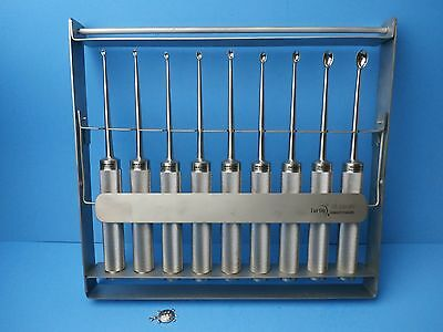 "Turtle-COBB Sterilizing Rack w/COBB(Dawson-Yuhal) Curettes 11""(Set of 10Pcs) OR"