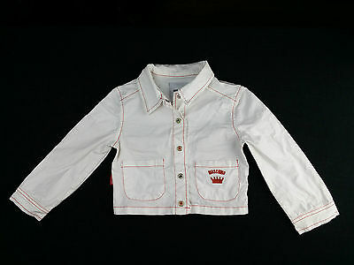 Baby Girl Boy Moschino Jacket 2 Years 86 92 Pearl Snap White Cotton Cards Suits
