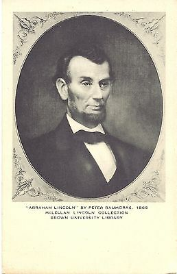 """US Postcard """"Abraham Lincoln"""" by Peter Baumgras"""
