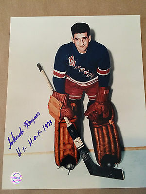 Charlie Rayner autographed New York Rangers photo