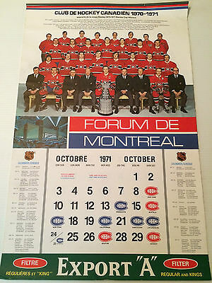 1971 Export A Montreal Forum complete calendar (great condition)