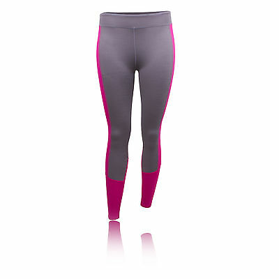 Under Armour CG Infrared Womens Pink Grey Long Running Tights Bottoms Pants M