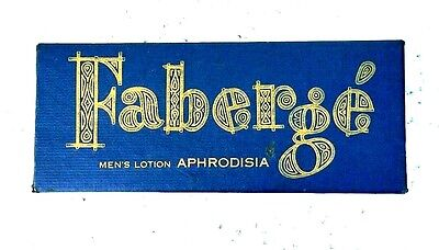 Faberge Aphrodisia After Shower 4 Fl Oz   BOX ONLY      Mint Condition    D1